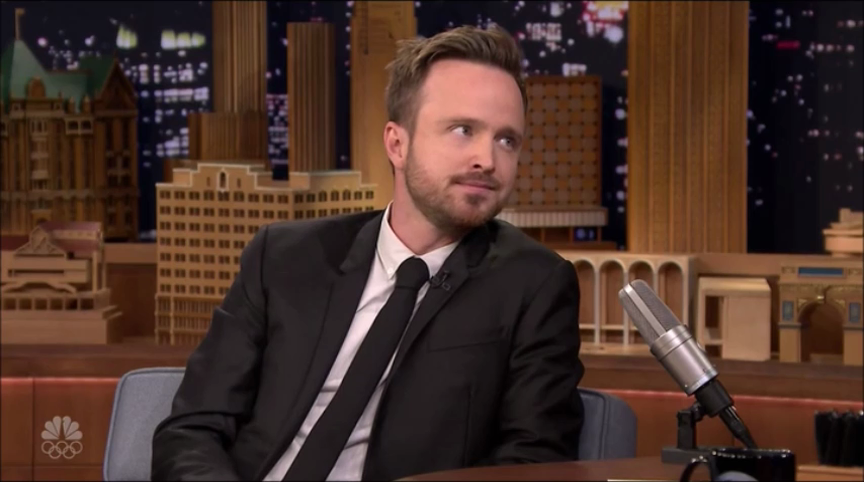 Aaron Paul on Jimmy Fallon Show (2)